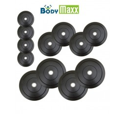 30 Kg Body Maxx Rubber Weight Plates For Home Gym Exercises Spare Weights